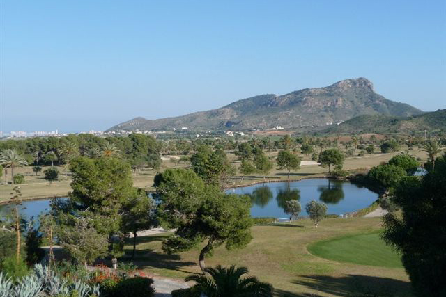 Lion Head from the golf course La Manga